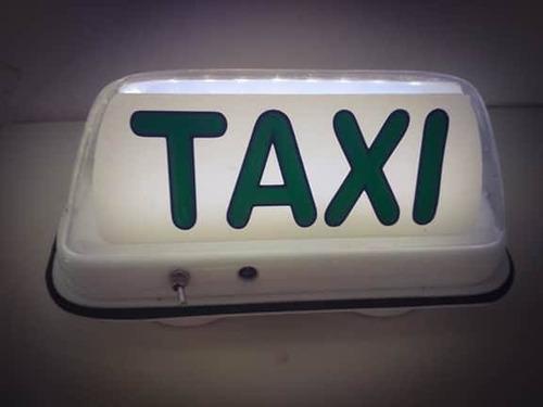 luminoso de táxi moldado com bateria recarregável