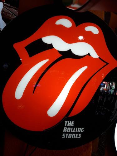 luminoso decorativo  rolling stones lingua bar buteco garage