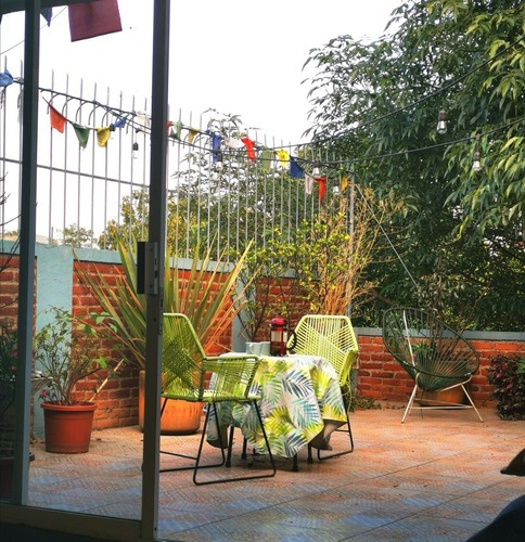 luminoso departamento amueblado con terraza en la condesa