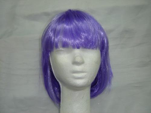 luminoso fluo peluca cotillon