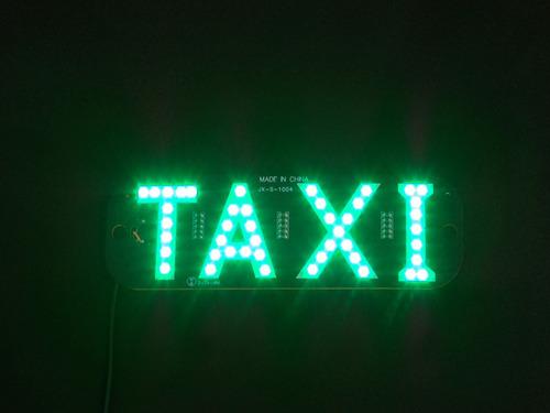 luminoso interno placa led taxi verde com plug