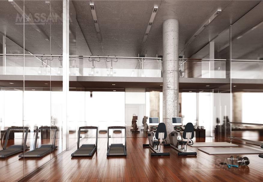luminoso monoambiente de 46m2 a estrenar con todos los amenities