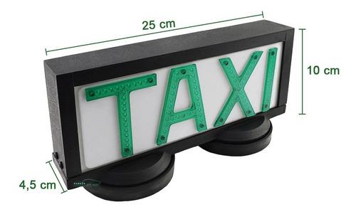 luminoso para teto de taxi grande retangular c base de íman