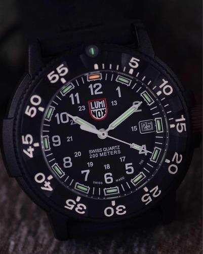 luminox navy seal 3001 black i relógio masculino original