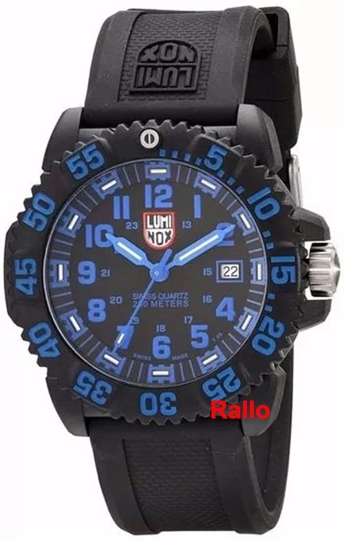 903ada89677 Luminox Navy Seal Colormark Azul 200m A.3053 Swiss Made - R ...