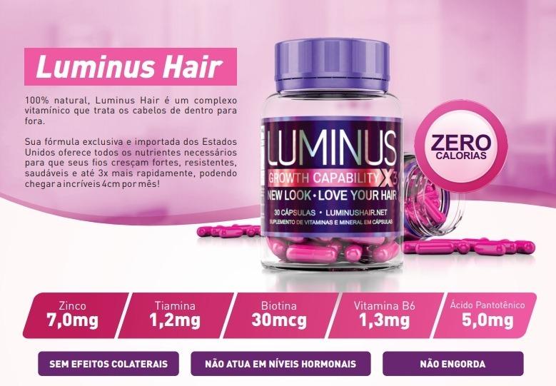 475801514 Luminus Hair Origlnal Tratamento Caps 30 Dias C nf + Brindes - R  84 ...