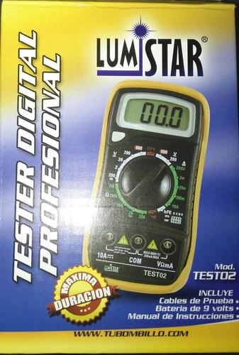 lumistar test02 tester multimetro digital profesional
