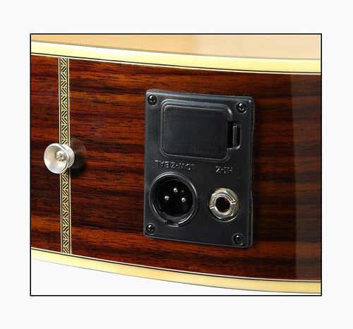 luna amp 100 guitarra electroacústica, natural