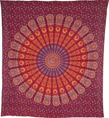 luna bazaar anita tapiz de mandala bohemia, colgante de par