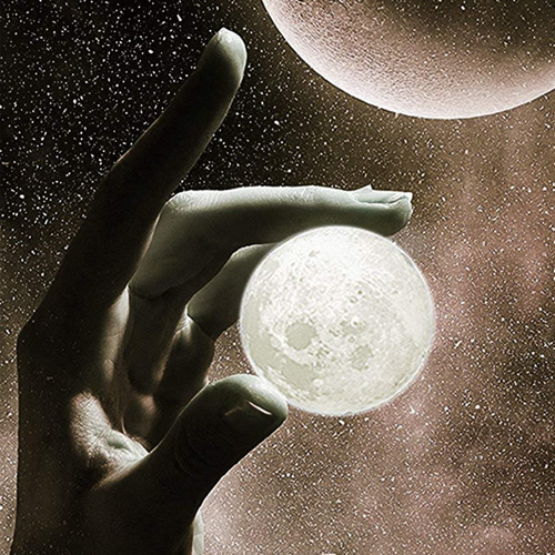 luna luz clave cadena colgante - seguridad noche luz llavero