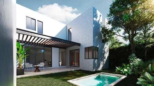 lunare modernas casas en privada en cholul
