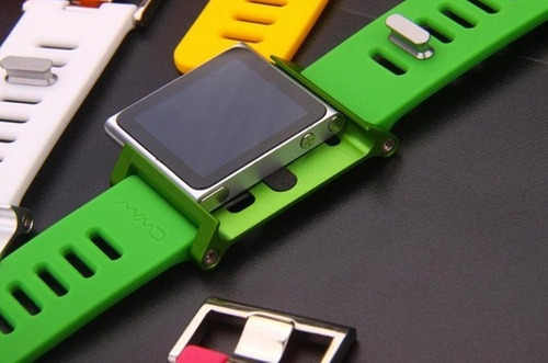 lunatik extensible aluminio caucho para ipod nano touch 6