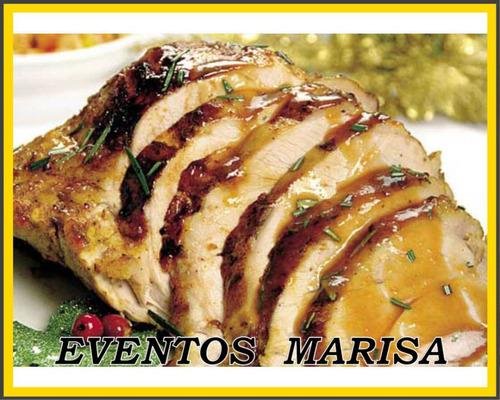 lunch con pernil de cerdo para 30 personas eventos marisa