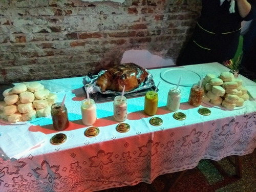 lunch con pernil de cerdo + salsas mercado pago envio gratis
