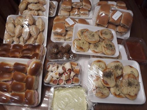 lunch para 15  personas!! casero y económico !! 185 piezas!!