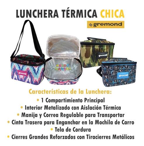 lunchera térmica chica gremond bolso cooler mundo manias