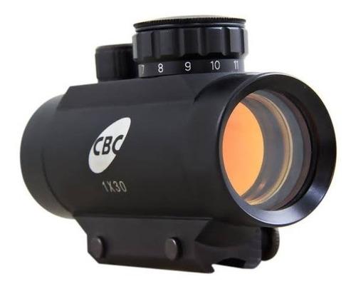 luneta dot cbc para carabina pressão espingarda trilho 11mm
