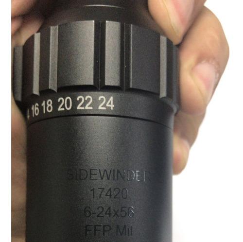 luneta hawke sidwinder ffp 6-24x56