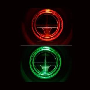 luneta mira 4x32 com reticulo iluminado para paintball