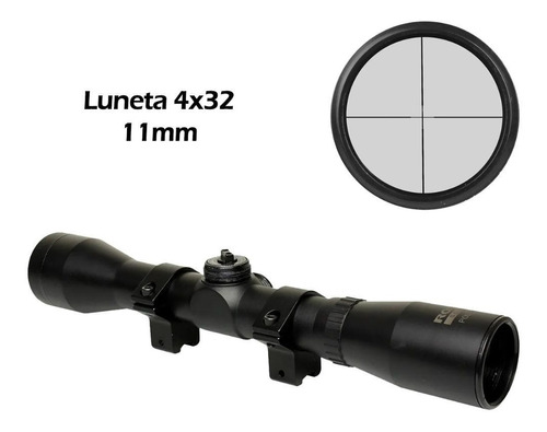 luneta mira rifle sniper carabina pressão rossi poly 4x32