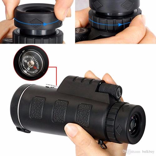 luneta monóculo 40x60  c/ nitidez + bolsa + alça + tripé
