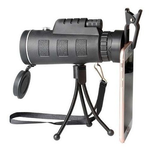 luneta monoculo aumento 40 x 60 c/ tripé telescopio