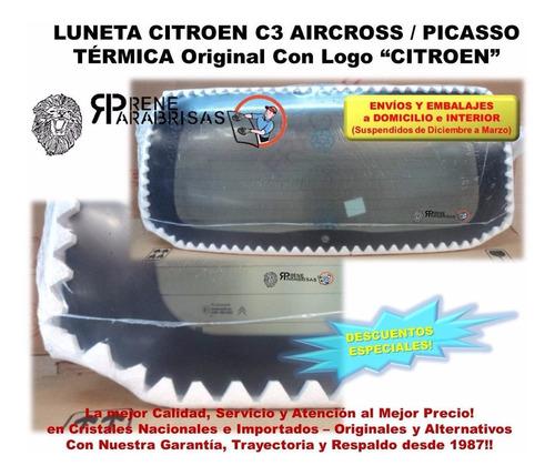 luneta térmica orig con logo p/ citroen c3 aircross picasso