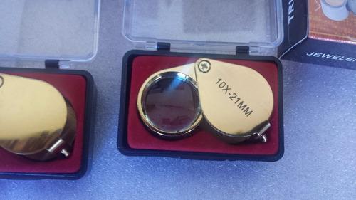 lupa 10x 21mm - ideal para relojoeiro /  diamantes  etc