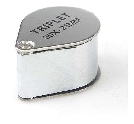 lupa 30x 21mm relojoeiro ourives colecionador gota de mao