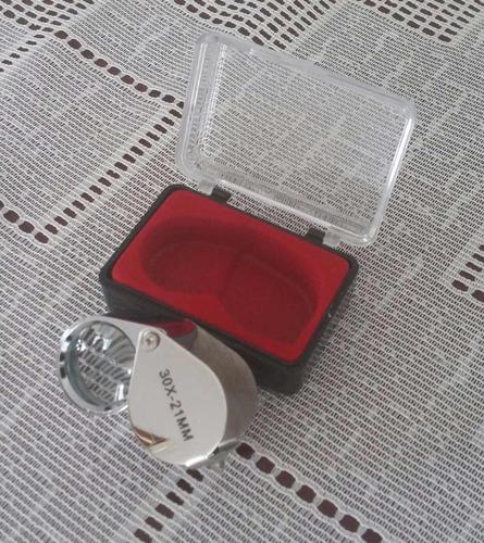 lupa 30x joyero relojero agronomia geologia 30x21mm