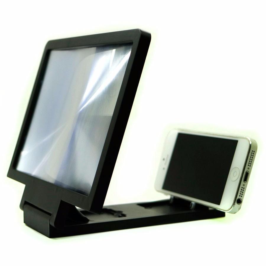 Lupa ampliador proyector celular pantalla 3d soporte video for Pantalla para proyector
