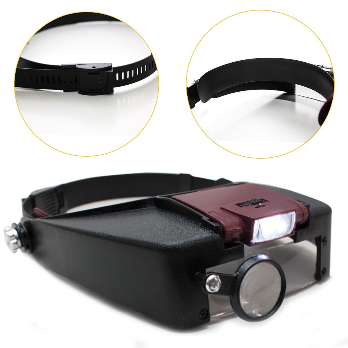 96843daff lupa cabeça óculos luz led 3 lentes profissional aumento. Carregando zoom.