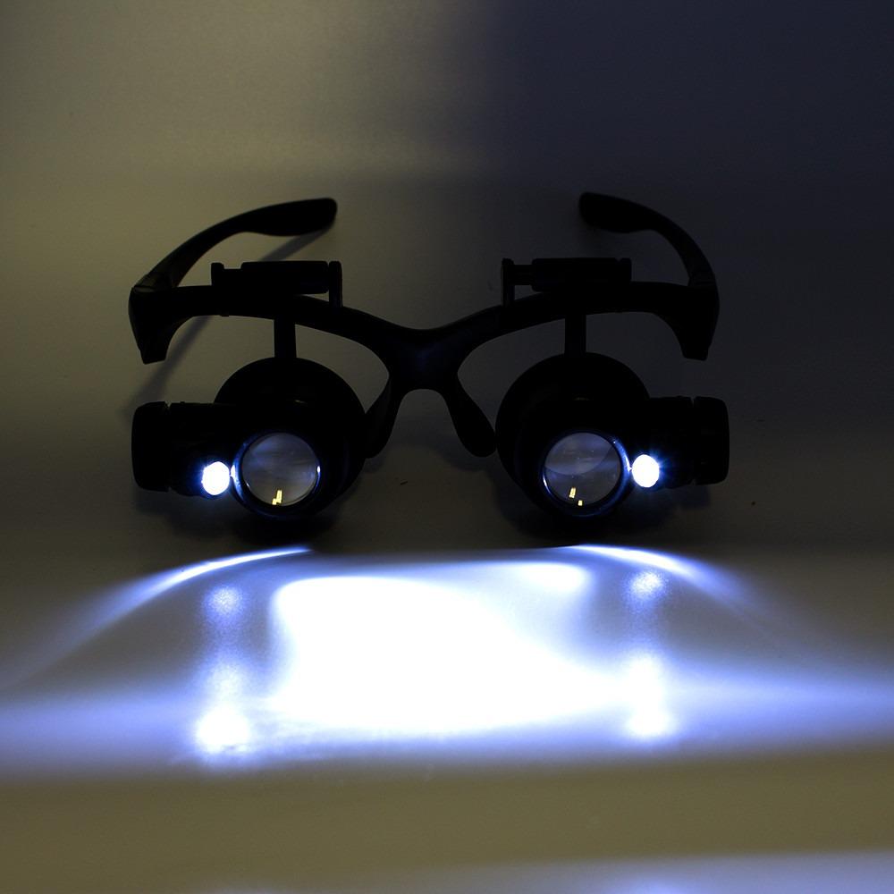 lupa cabeca oculos profissional relojoeiro luz de led pala. Carregando zoom. abdde7e7be
