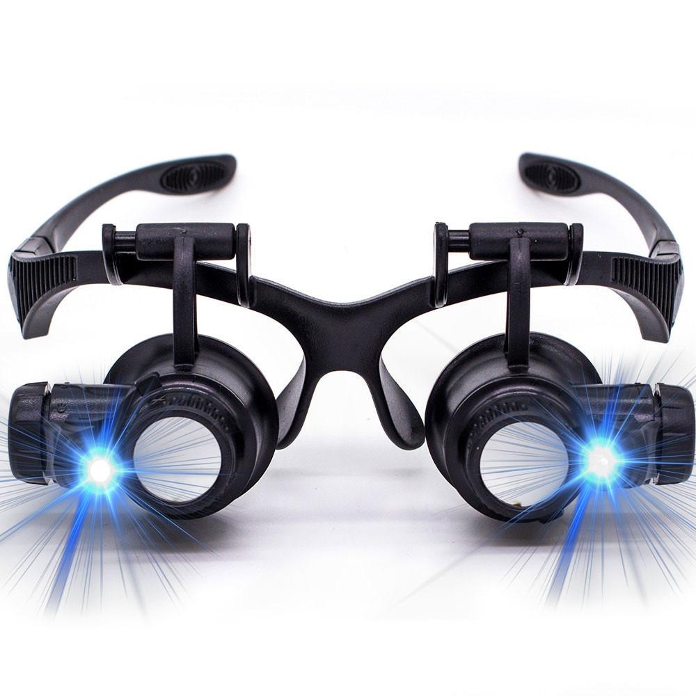 lupa cabeca oculos profissional relojoeiro luz led aumento. Carregando zoom. 14ab26b81e
