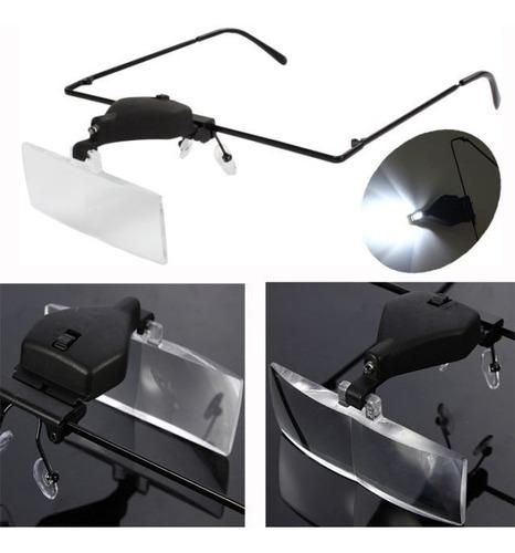 lupa con lentes intercambiables y lámpara de iluminación