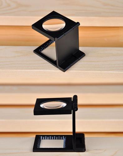 lupa cuenta hilos metal 10x 20mm escala medida punto amplia