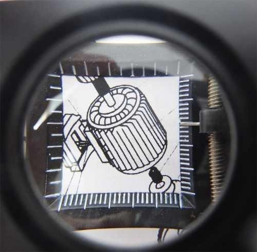 lupa cuentahilo 30 mm 8 x led metal cristal y aguja obi