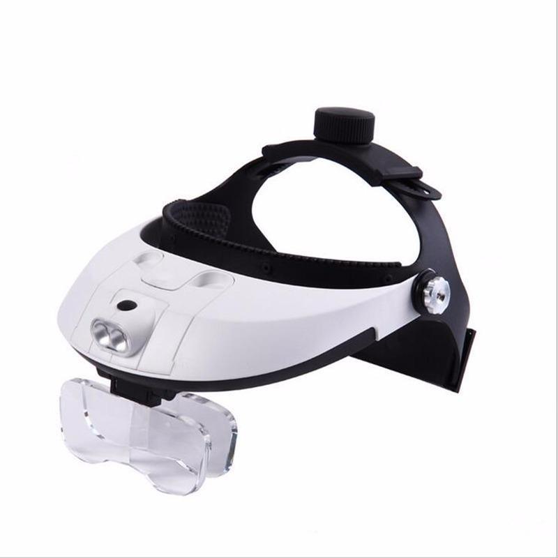 914cab0d6 lupa de aumento para cabeça oculos 5 tipos lentes e luz led. Carregando  zoom.