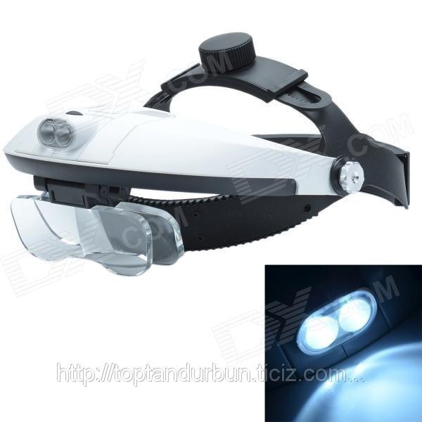 123e10d21 Lupa De Aumento Para Cabeça Oculos 5 Tipos Lentes E Luz Led - R$ 97 ...