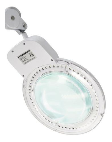 lupa de bancada com luminária led - solver hl-900 led
