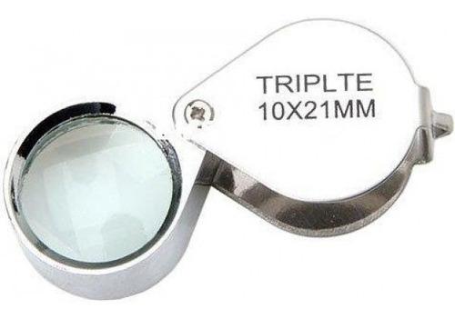 lupa de bolso 21mm com ampliação de 10x - solver sld-111