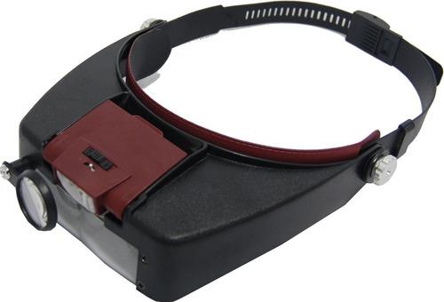 lupa de cabeça com led e 3 lentes- lee tools