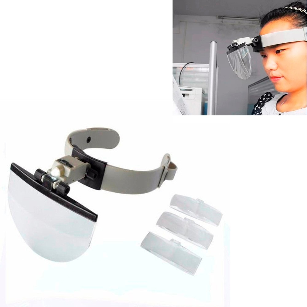 lupa de cabeça led profissional óculos 4 lentes completa. Carregando zoom. f127e34317