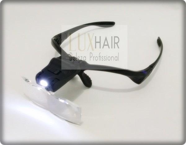 a31b244ca Lupa De Cabeça Oculos Profissional 5 Lentes Aumento Luz Led - R$ 92 ...