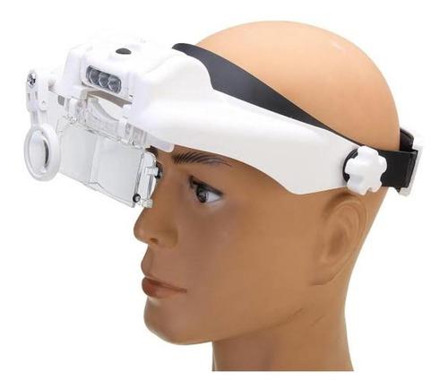 lupa de cabeça recarregavel oculos 11,5x dentista medico
