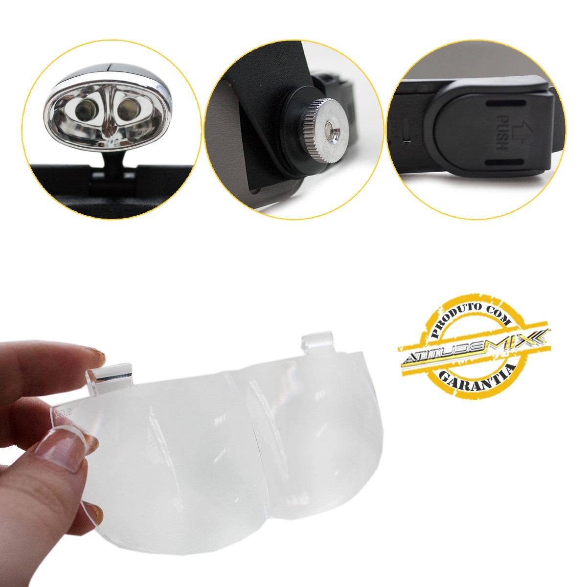 b41b2988c68ab lupa de cabeça viseira led 4 lentes precisão articulável. Carregando zoom.