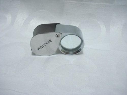 lupa de joalheiro lente 21mm 20x profissional
