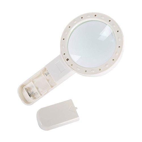 lupa de mano 20x lupa de lectura de 12 luces led y luz ultra