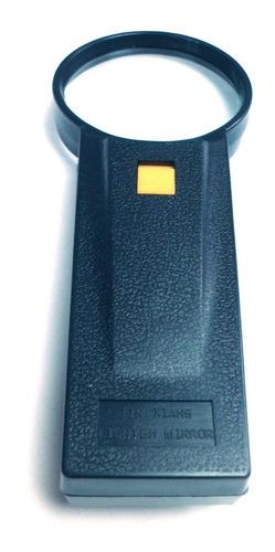 lupa de mano 2x 60mm con luz lente organico negra v108384