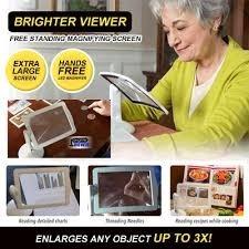 lupa de mesa e bancada led 3x estetica leitura artesanato